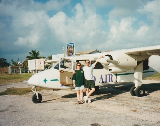 Puddle jumper Belize