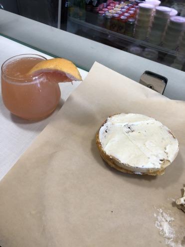 Breakfast mmm-mimosa.