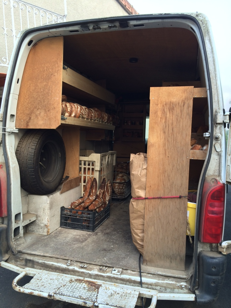 Cassaniouze: baker's van ready to deliver to all the surrounding villages